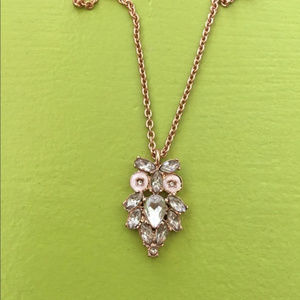 Kate Spade NY Wise Owl Crystal PendantNecklace NWT